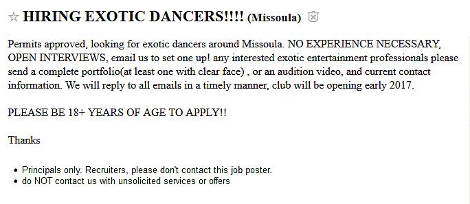Is Missoula Getting A New Strip Club