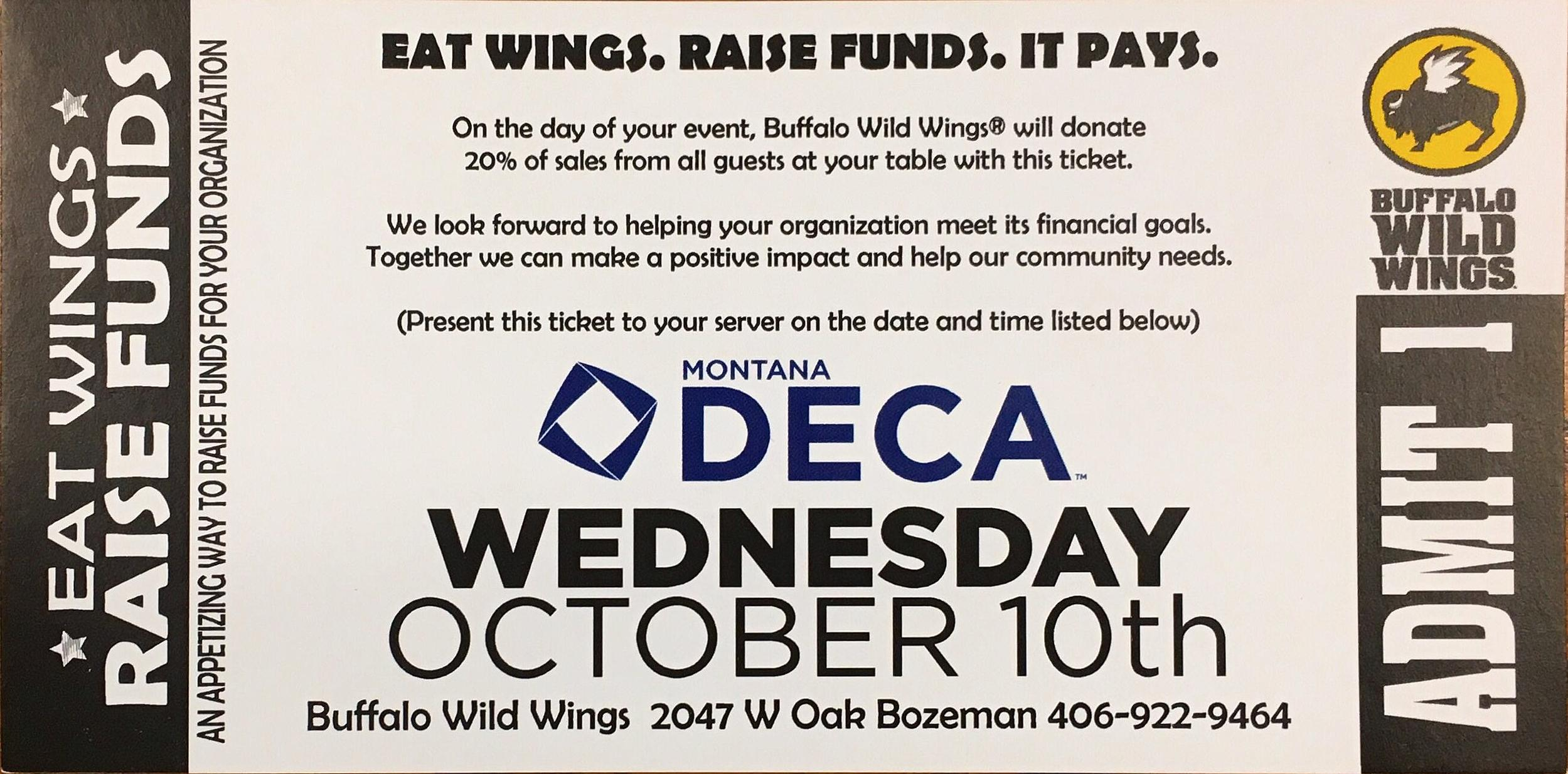 Enjoy Wings and Help Kids at Bozeman High School