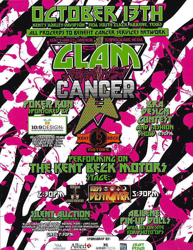 Glam Against Cancer To Benefit Cancer Services Network Oct 13