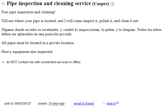Craigs list casper