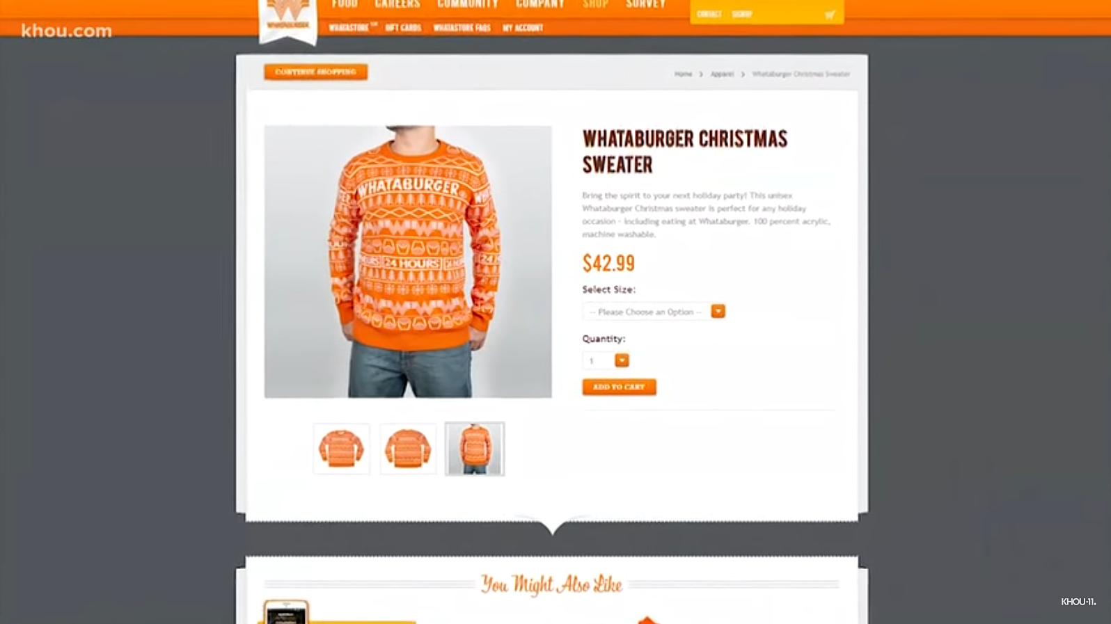 Whataburger Gives Us a Good Looking Ugly Christmas Sweater