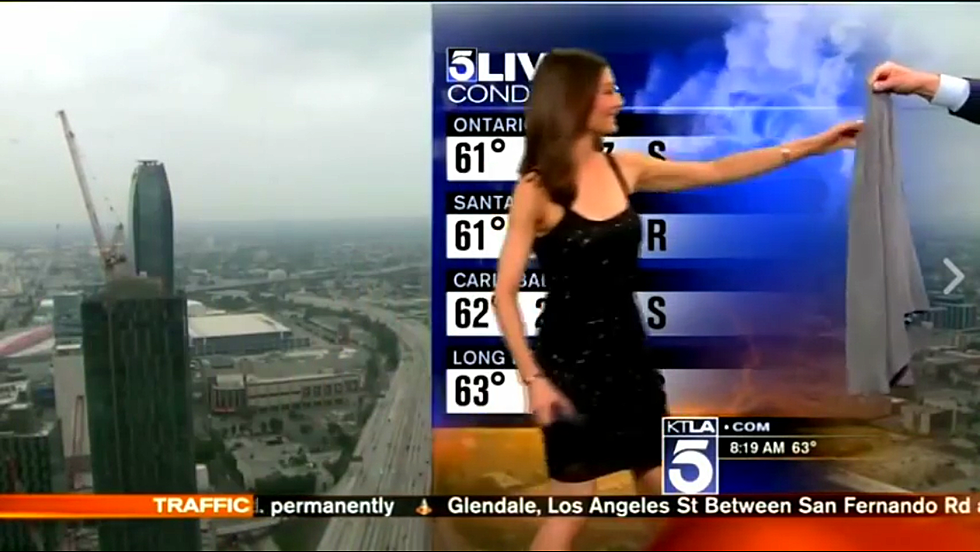 Meteorologist Forced to Cover Up on Live TV [VIDEO]