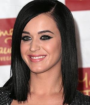 Katy Perry Black Sleek Long Straight Hairstyle