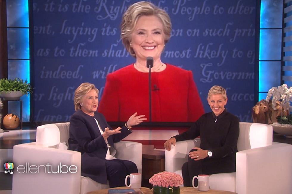 51a616813798 Hillary Clinton Talks Trump  Literally Stalking Her  at the Debate on  Ellen