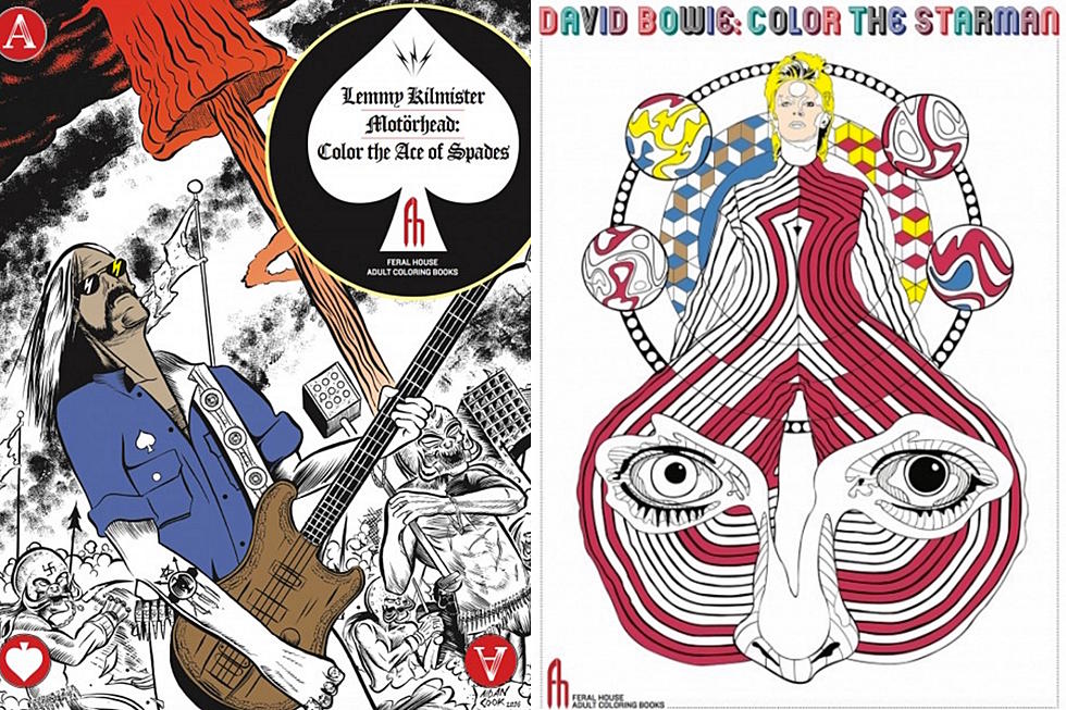 Lemmy Kilmister And David Bowie Featured In New Adult Coloring Book