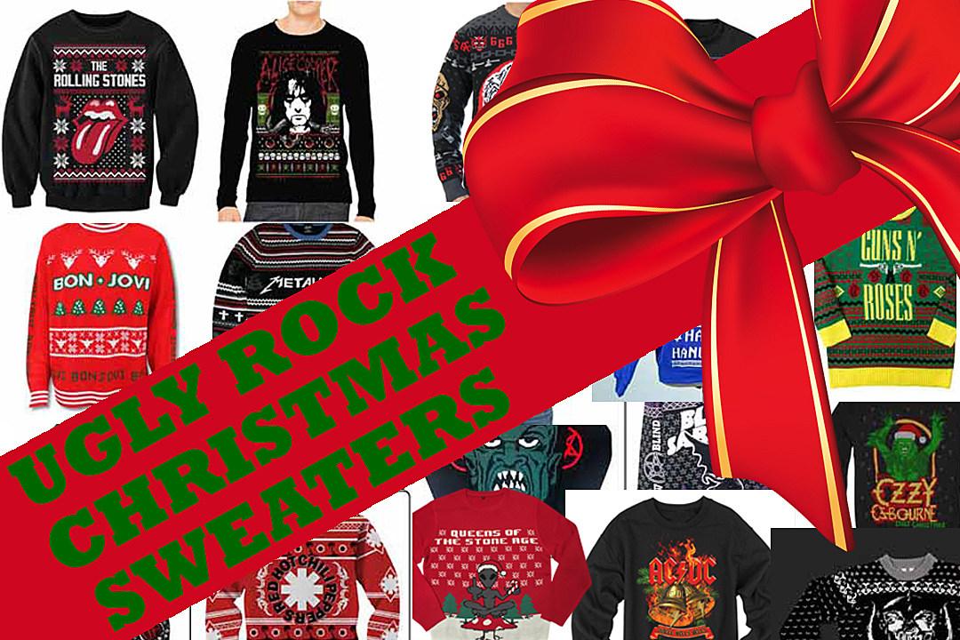 20 Ugly Rock Christmas Sweaters