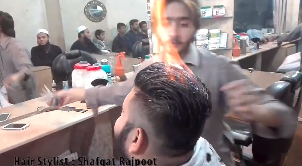 You Can Now Get Your Hair Cut With Fire Video