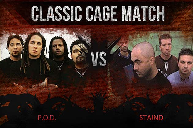 p o d vs staind classic cage match