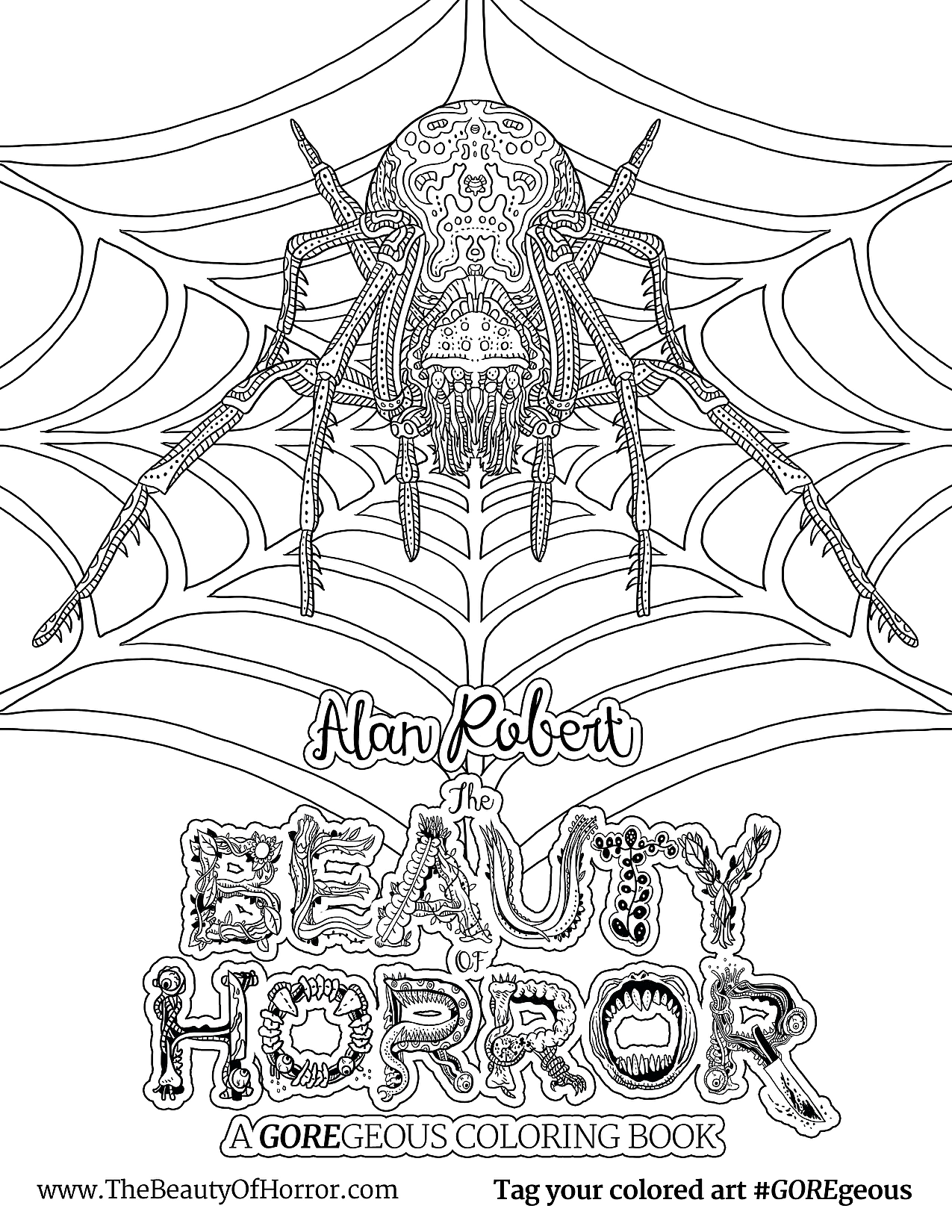 Alan Robert The Beauty Of Horror Ii Coloring Book Interview