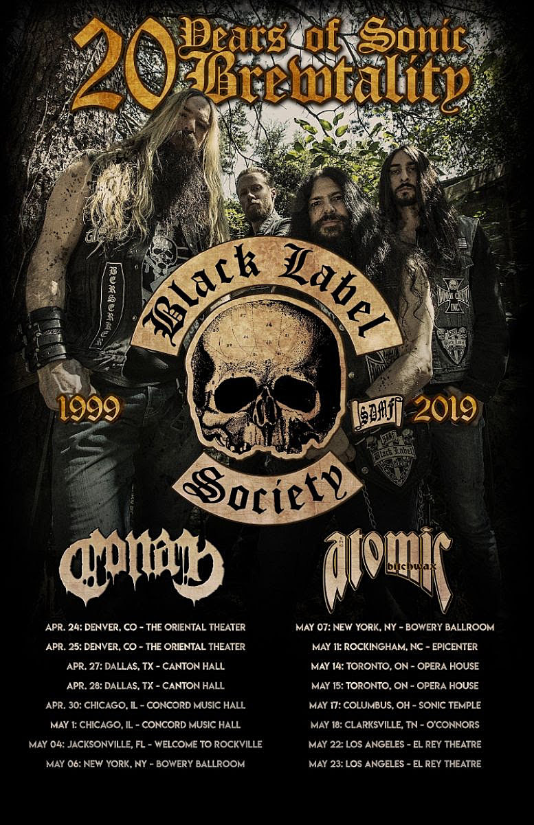 Black Label Society Book 20th Anniversary North American Tour
