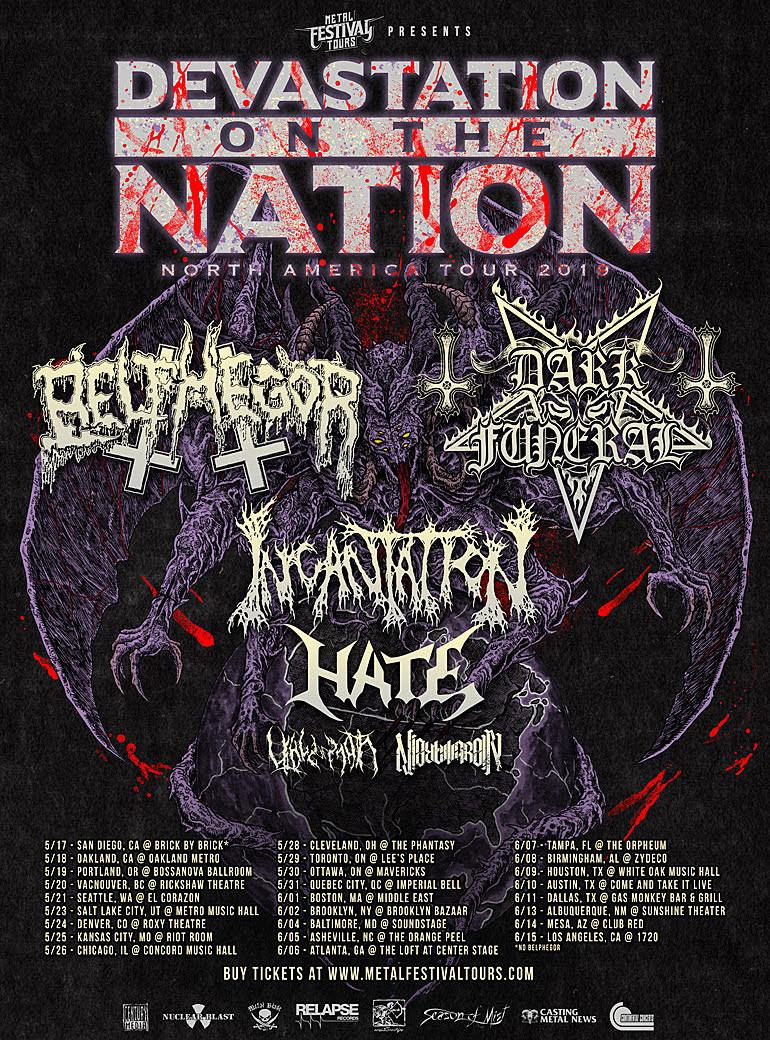 Belphegor Dark Funeral Announce 2019 North American Tour