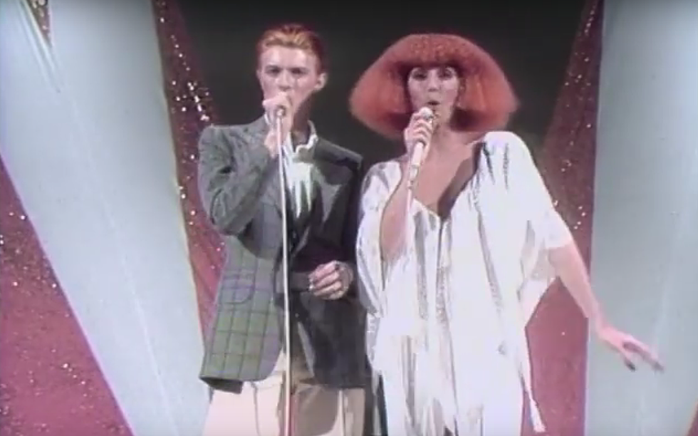 this week in music history david bowie debuts on cher s tv show