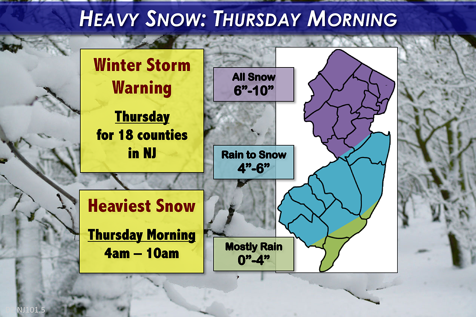 Winter Storm Warning: Winter Storm Warning: 60s Wednesday, 6+ Inches Of Snow