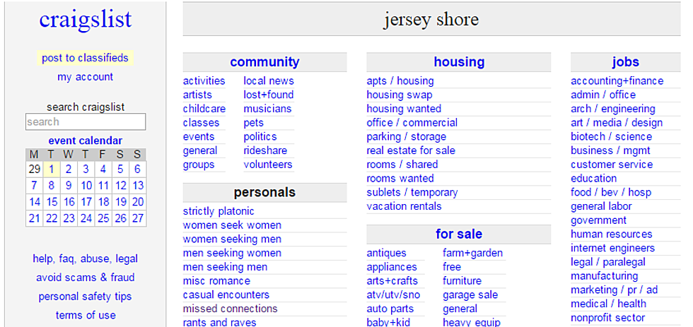 5 Bizarre Missed Connections Ads On Jersey Shore Craigslist