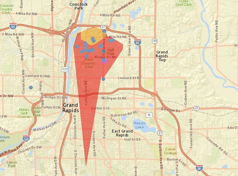 Power Outage Map Grand Rapids.Power Outage Affecting Nearly 2 500 Homes In Northeast Grand Rapids