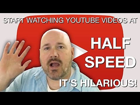 Image of: Ever 979 Wgrd Watching Youtube Videos At Half Speed Is Really Funny video