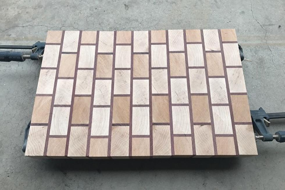 my latest shop creation a brick style cutting board