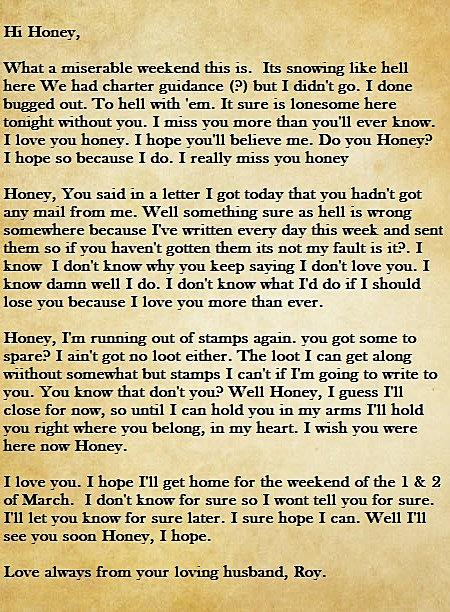 miss you letter to husband