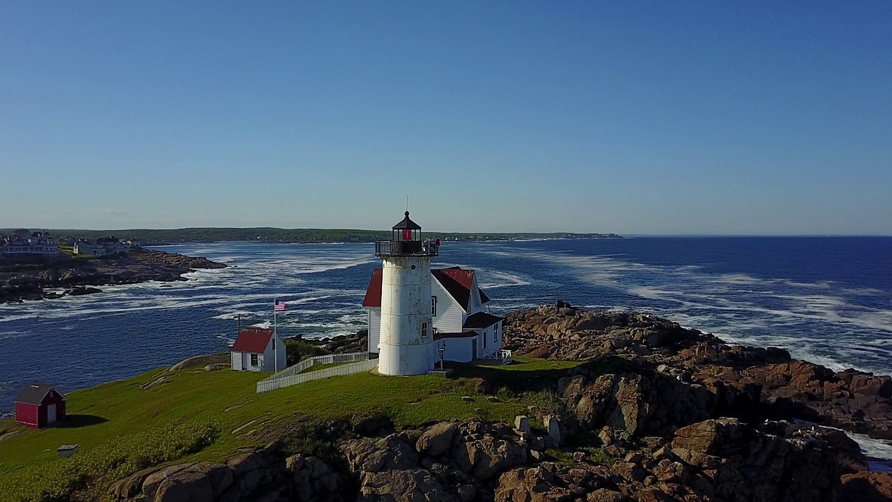 Watch A Stunning Drone Flight Over Maines Nubble Lighthouse [VIDEO]