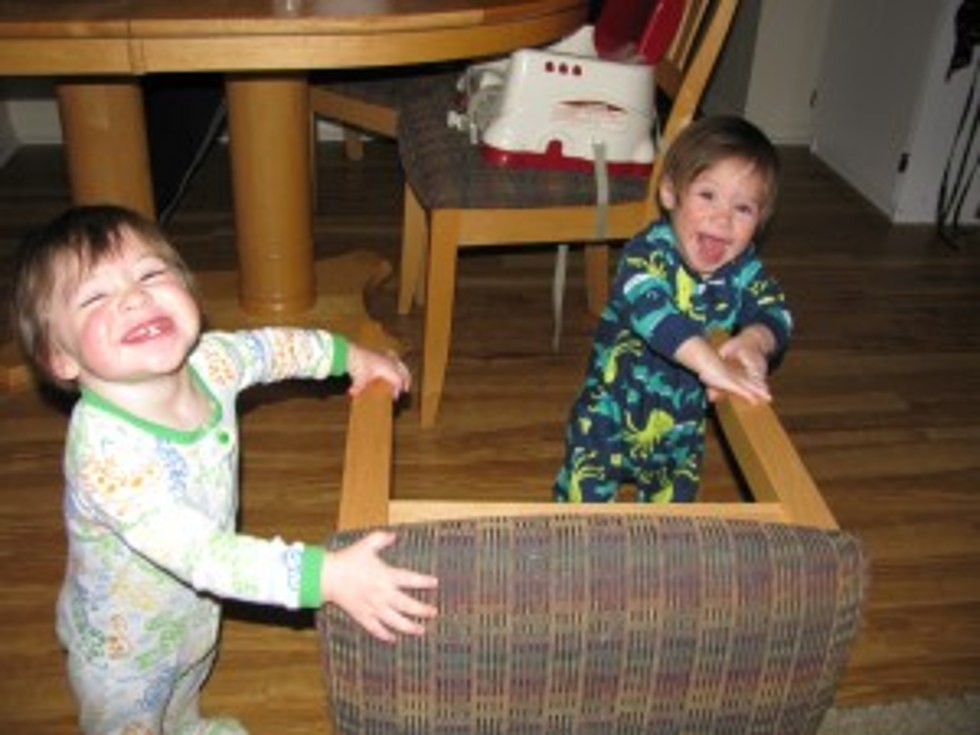 11-Month-Old Twins Playing and Laughing -Motherhood Without Warning [Video]