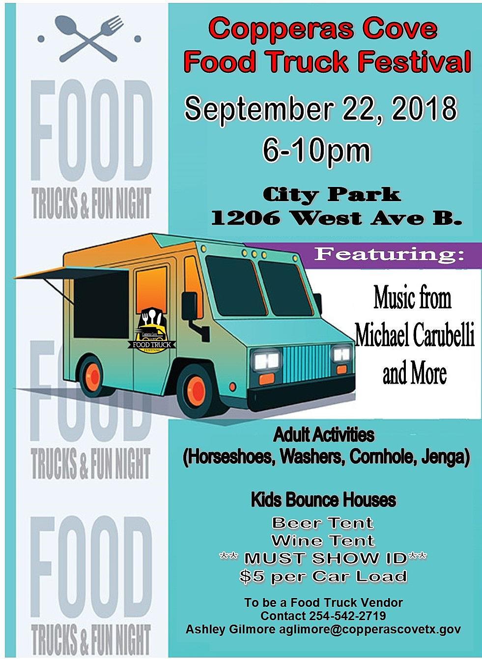 Copperas Cove 2018 Food Truck Festival