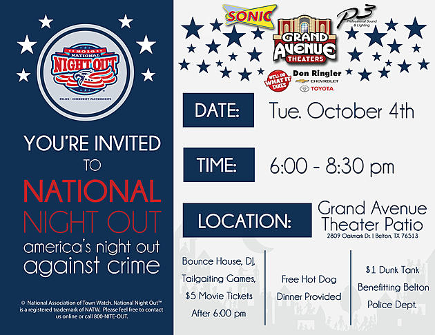 America S Night Out Against Crime At The Grand Avenue Theater In Belton