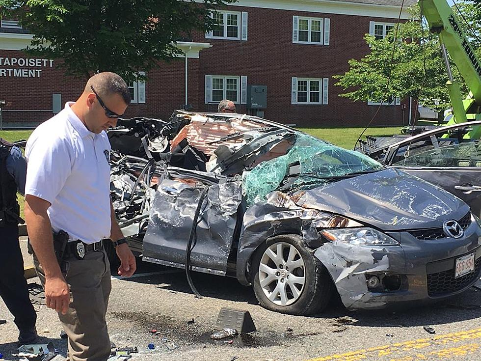Serious Three Car Crash In Mattapoisett Video