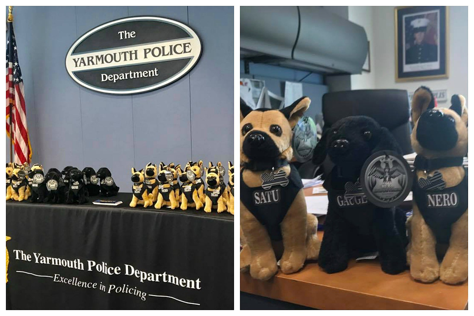 Yarmouth Police Selling Stuffed K9 Dogs