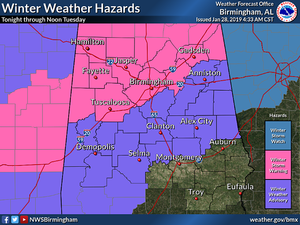 Winter Storm Warning in Effect from Midnight Tonight Through