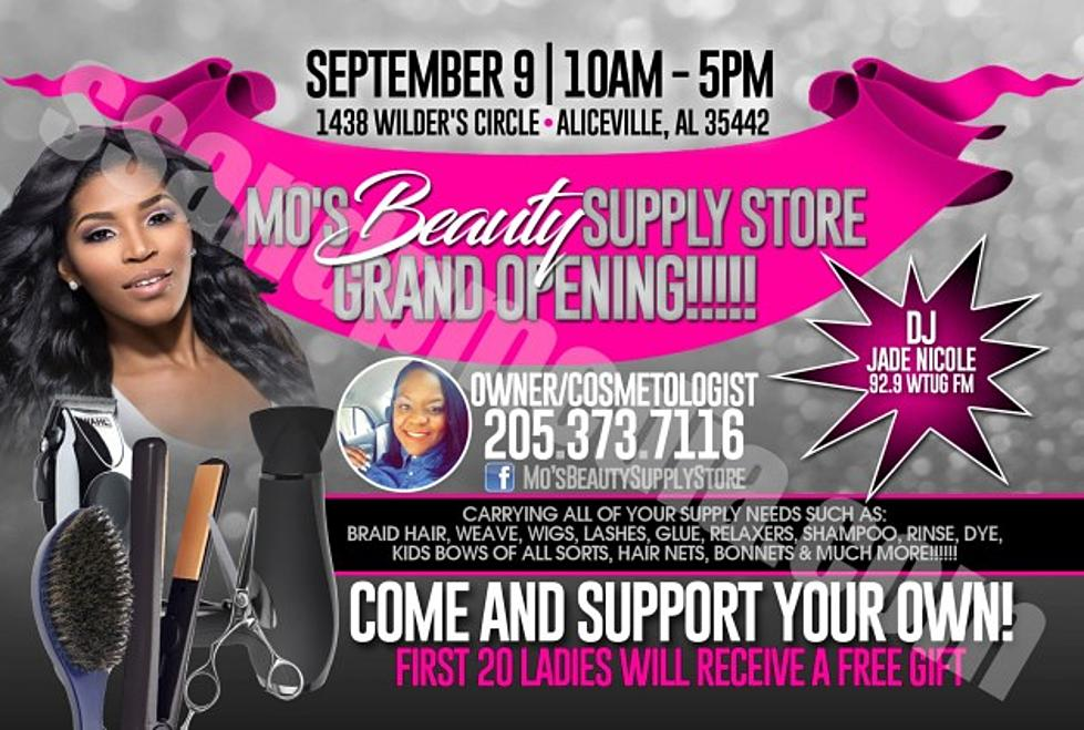jade to support aliceville beauty supply store grand opening