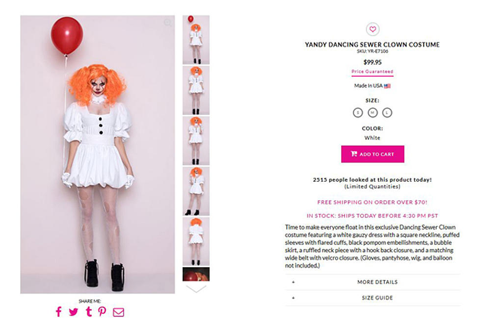 Yandy Offers Dancing Sewer Clown Halloween Costume Resembling Cool Pennywise Costume Pattern