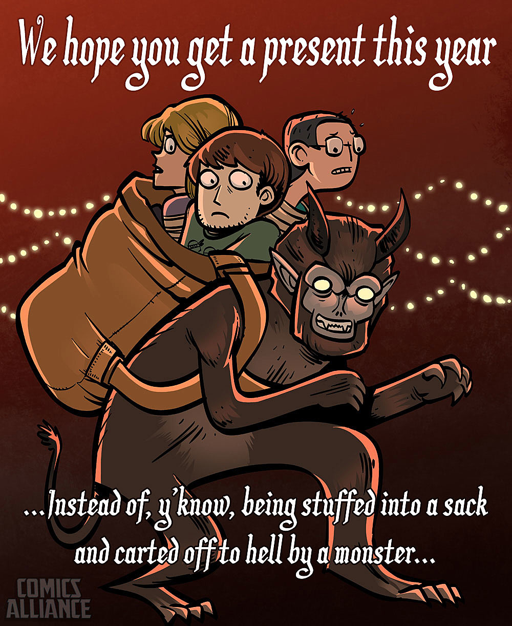Comics Alliance Holiday Card: Krampus Strikes! (By Nedroid)