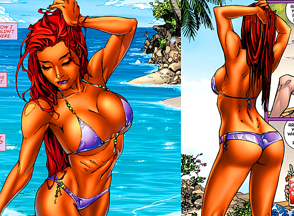 Boobs ass large and starfire pics Hot with