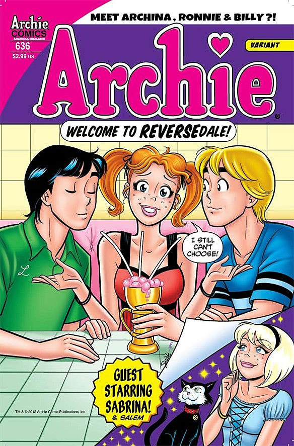 archie or archina gets magically gender swapped in archie 636