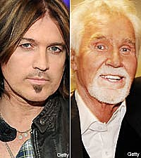 Billy Ray Cyrus and Kenny Rogers
