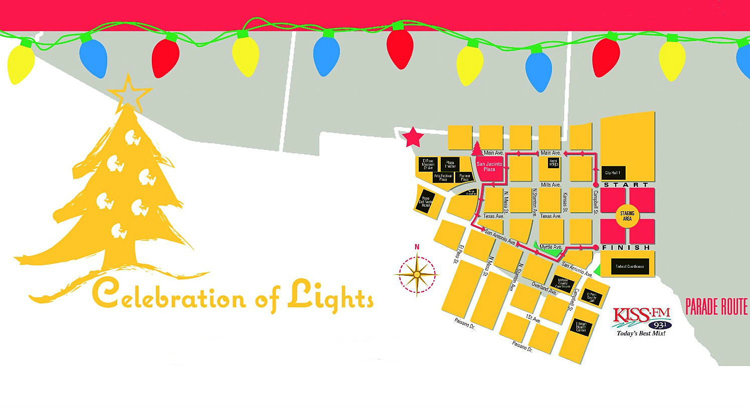 Celebration Of Lights Tree Lighting And Parade Schedule Events Parallel Christmas Click For Details Larger Image