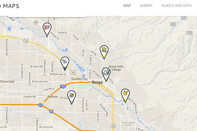 Find The Pokemon With The Help Of Others Around Boise With This Map.