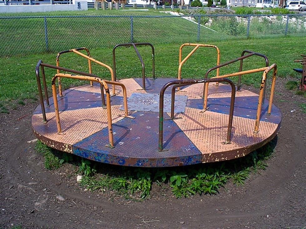old school playground equipment that might have killed you