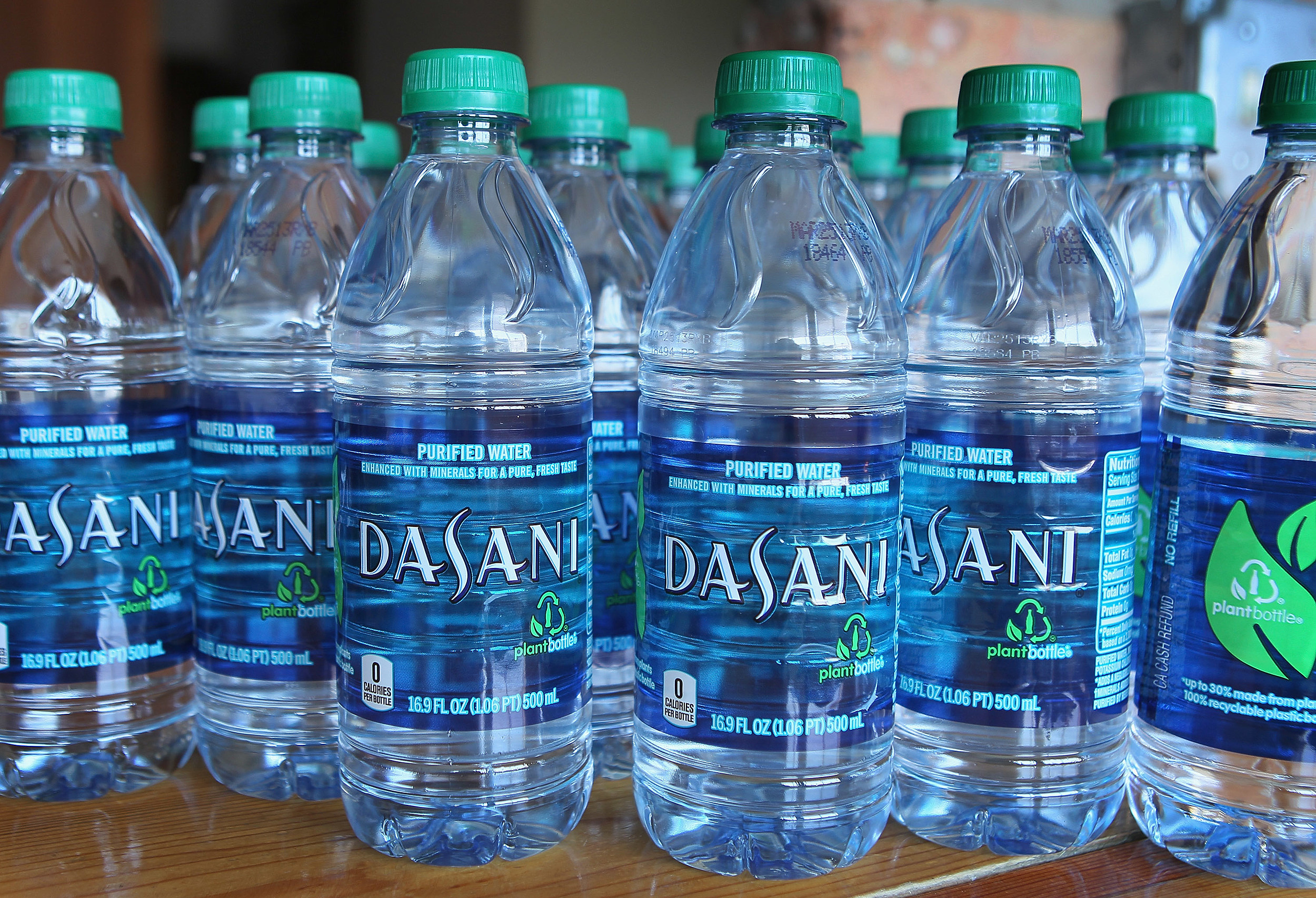 How are dasani water bottles made