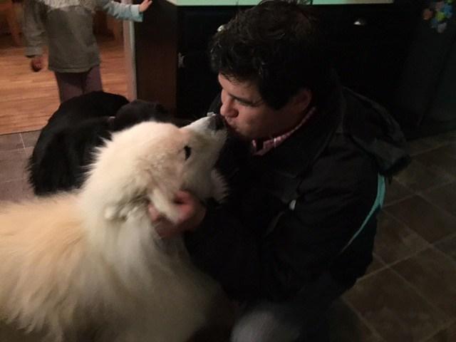 Sloppy seconds after dog