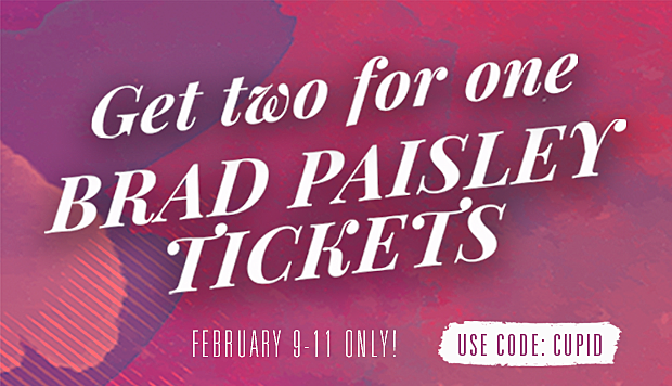 Brad Paisley Concert Valentine S Day Special Offer