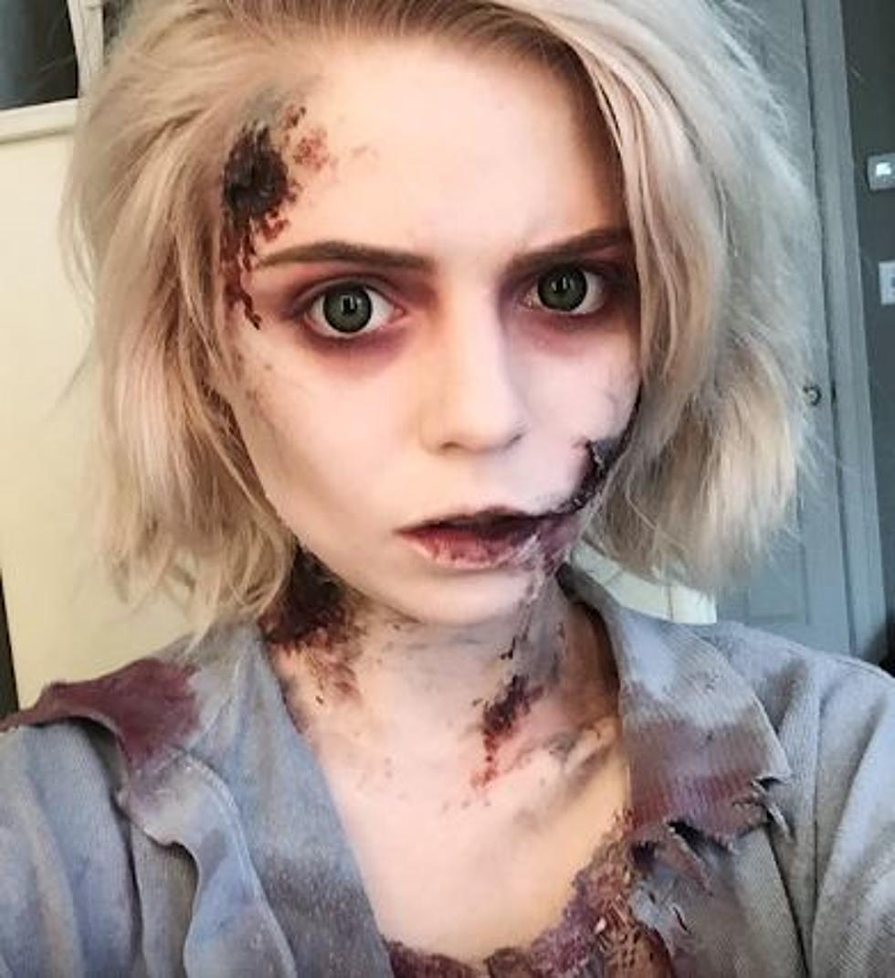Exposed teeth zombie makeup tutorial | zombies.