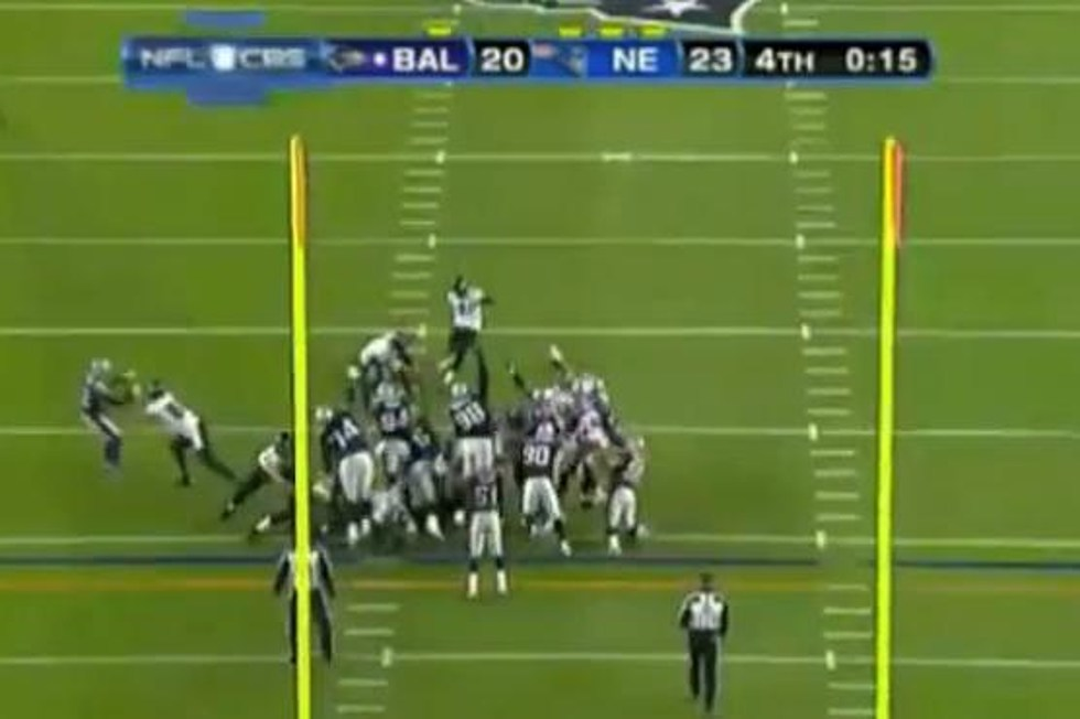 Baltimore Ravens Miss Field Goal Against Patriots Video