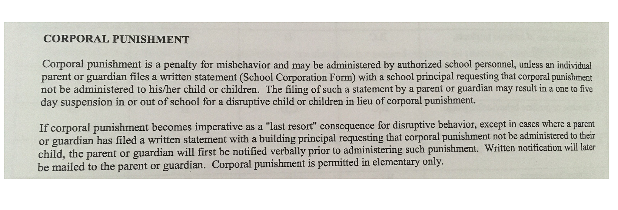 good things about corporal punishment