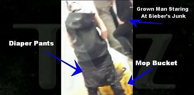 Bieber Pees In Mop Buckets Video