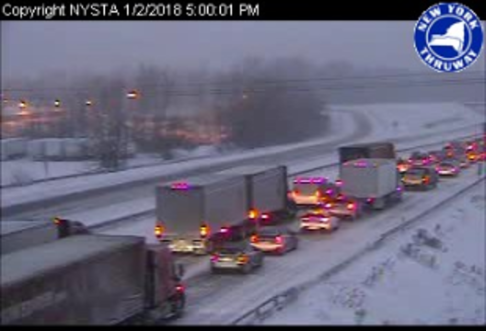 75 Vehicles Involved in Pile Up on NY Thruway [VIDEO]