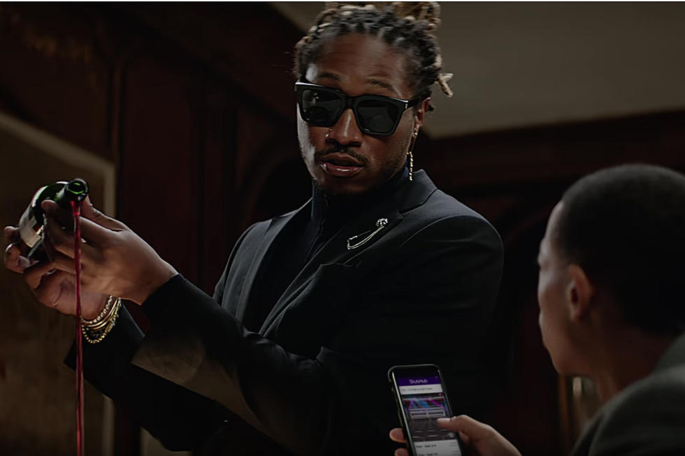 future serves wine and dating advice in new stubhub commercial xxl