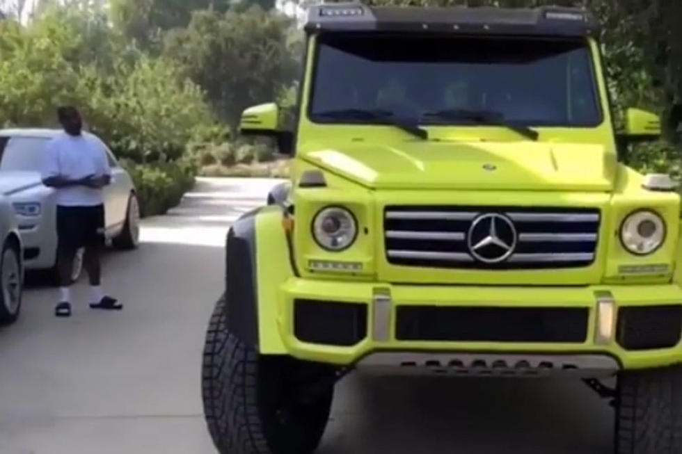 Kanye West Surprises Kim Kardashian With New Neon Green Mercedes Benz G Cl