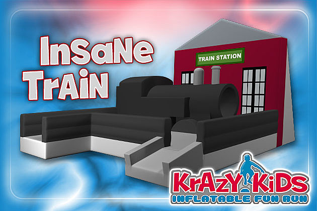 Krazy Kids Inflatable Fun Run Train Station