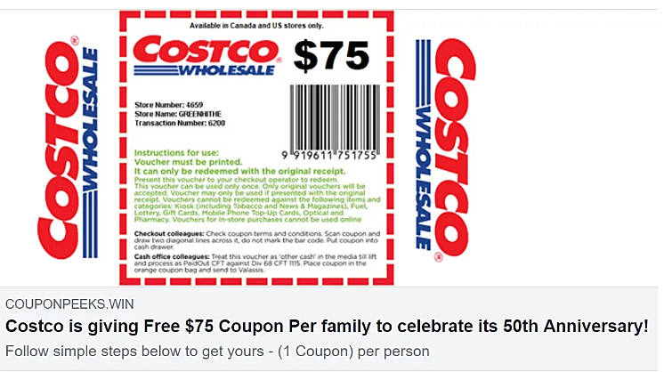 Sorry Costco Is Not Giving Out Free Money